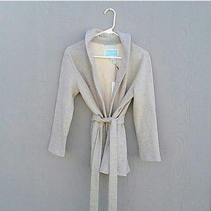 NWT Draper James | Grey shawl collar cardigan